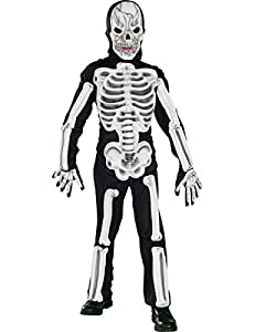 Child Boys Kids EVA Scary Skeleton Halloween Fancy Dress Outfit Costume