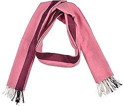Knool Women's Dupatta (Pink and Black)