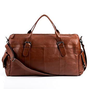 FEYNSINN XXL travel bag ASHTON - weekender duffel - brown leather