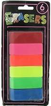 Bulk Buys OS016-72 Neon Erasers