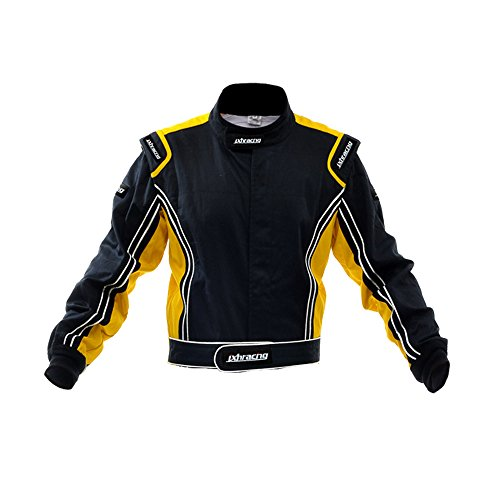 jxhracing RB-CR014-J Two Layers Fire Protection Racing Jacket Yellow X Large (Go Kart Protection compare prices)