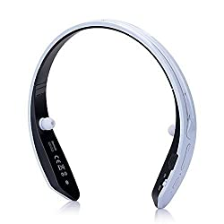 JT Mini Wireless Super Bass BM-170 Bluetooth Headset Stereo Sports/Running & Gym/Exercise Wireless Ear buds Music Ultra-light Neckband Headphones With Call Function -White/Black