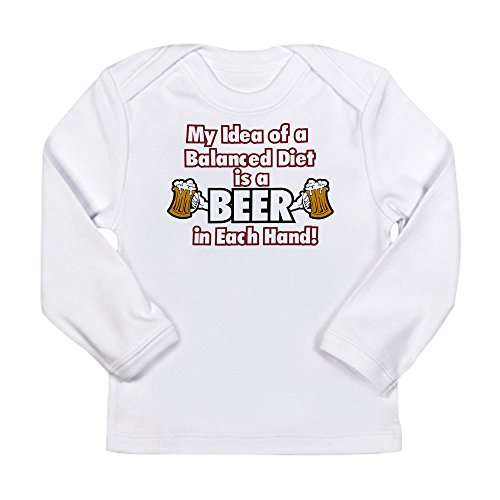 royal-lion-long-sleeve-infant-t-shirt-my-idea-balanced-diet-beer-each-hand-cloud-white-0-to-3-months