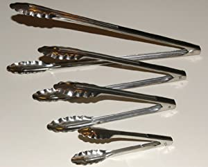 Complete Set of Four (4) Different Sized Utility Spring Tongs Including a 16 Inch Extra... by 3P Company
