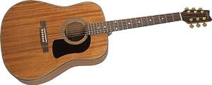 Washburn D100 Acoustic Guitar, Natural Mahogany