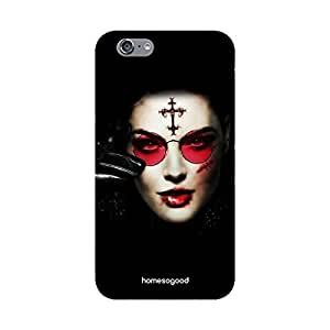 HomeSoGood Gothic Haunted Lady Black 3D Mobile Case For iPhone 6 (Back Cover)