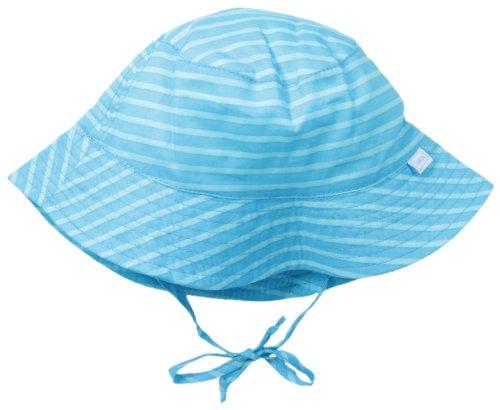 i play. Unisex Baby Bucket Sun Protection Hat, Aqua/Light Aqua Stripe, Toddler 2-4 Years