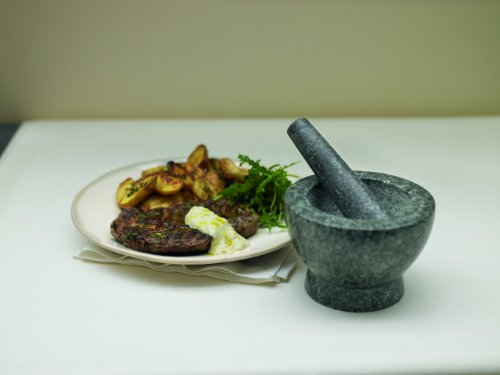 Jamie Oliver JB5100 14 cm Granite Pestle and Mortar, Grey