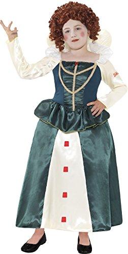 Smiffys - Costume da Elisabetta I, Donna, taglia: M, colore: Verde