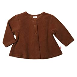 Zutano Baby Girls\' Cozie Swing Jacket, Chocolate, 18 Months