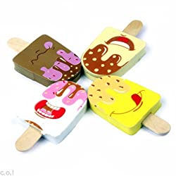 COI YUMMY ICECREAM SET OF FOUR PENCIL ERASERS FOR KIDS