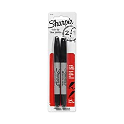 Sharpie Twin Tip Fine Point and Ultra Fine Point Permanent Markers, 2 Black Markers (32162PP)