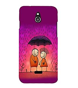printtech Love Couple Raining Back Case Cover for Infocus M2
