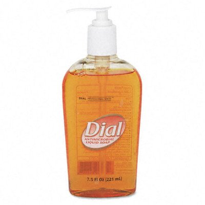 Liquid Dial Gold Antimicrobial Soap - Unscented Liquid, 7.5oz Pump Bottle(sold in packs of 3)