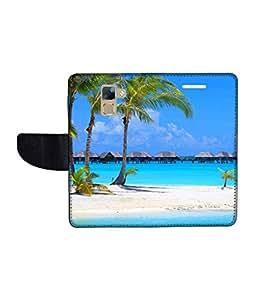 KolorEdge Printed Flip Cover For Huawei Honor 7 Multicolor - (1478-50KeMLogo11349Honor7)