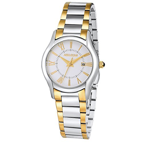 Heloise Women's Two Toned Stainless Steel Watch Roman Numberals #76120229 (Heloise Jewelry Box compare prices)