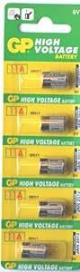 GP Alkaline Battery 11A GP11A L1016 6V - Pack of 5 GP11A-C5