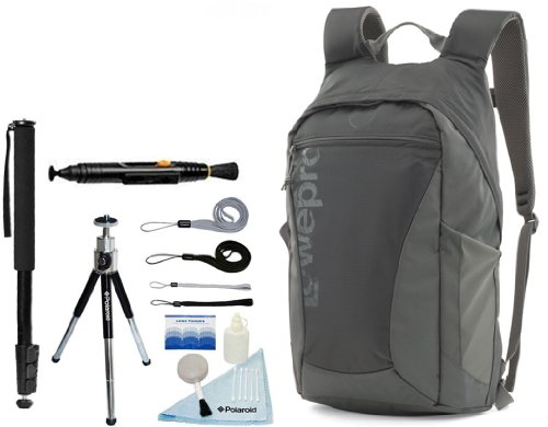 Photo Hatchback 22L Aw Camera / Tablet Backpack (Slate Grey) And Accessory Kit For Canon Eos Rebel T5, T5I, T3, T3I, T4, T4I, T2I, T1I, Eos 1D Mark Iii, 1D Mark Iv, 1Ds Mark Ii, Sl1, 5D, 7D, 20D, 30D, 40D, 50D, 60D, 70D, Xs, Xsi, Xti D-Slr Cameras