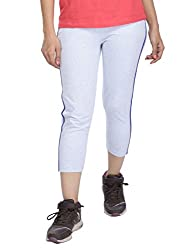 Vishal Women Light Blue Capris