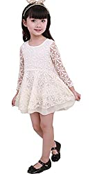 Baby Girls Princess Sundress Half Sleeve Lace Skirt Kids Summer One-piece dress from Angel's Wings