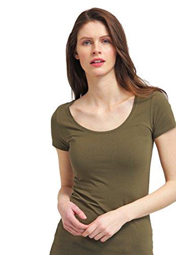 tshirt-damen-kurzarm-in-oliv-grun-mit-rundhals-ausschnitt-von-the-style-room-basic-top-fur-frauen-mi