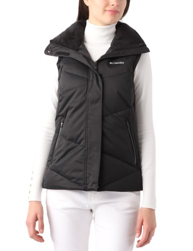 Columbia Sportswear Women's Lay 'D' Down Vest, Black, Small (Columbia Jacket Lay D Down compare prices)