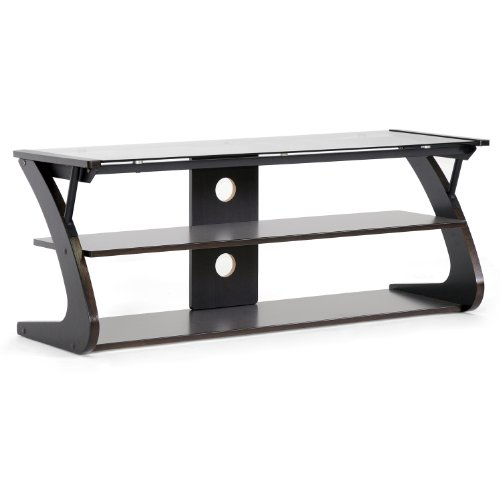 Baxton Studio Sculpten Modern TV Stand  Glass