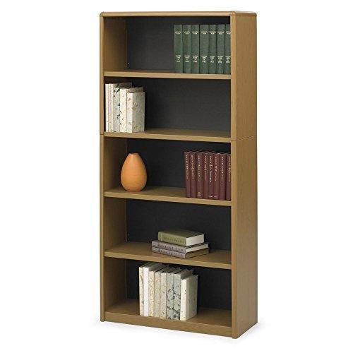 Safco Home Office 5-Shelf ValueMate Economy Bookcase - Medium Oak Safco Workspace 5 Shelf