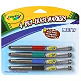 Dry-Erase Bullet Tip Marker 4-Pack: Assorted Colors
