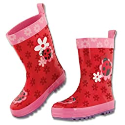 Stephen Joseph Little Girls\'  Rain Boot, Ladybug, 8