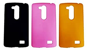 Winsome Deal 3 Pieces of Exclusive Quality Hard Back Cover Case For LG L Fino D295
