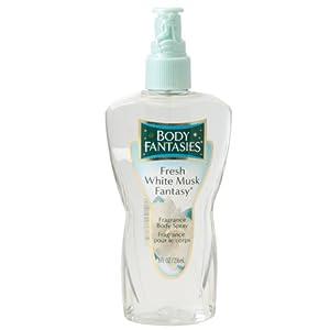 Parfums De Coeur Fresh White Musk Fantasy Fragrance Body Spray for Women, 8 Ounce