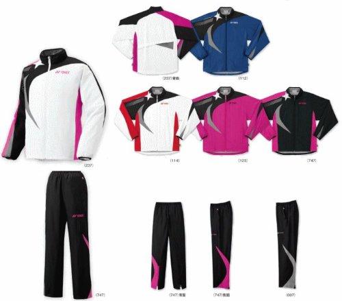 Bádminton Yonex forrado ウィンドウォーマー camisas vestidos y pantalones abajo conjunto 70038-80038 (negro / negro (747) × de durazno / melocotón (747), M)