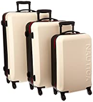 Nautica Ahoy 3 Piece Hardside Spinner Luggage Set (28