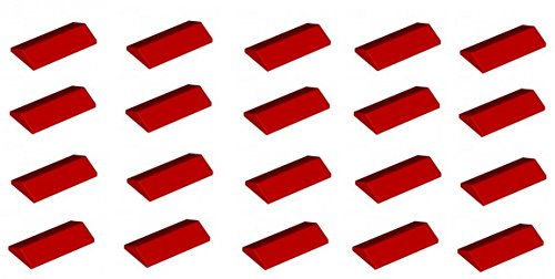 lego-20-x-roof-top-slopes-2x4-45-red-sloped-brick-new-part-no-3299