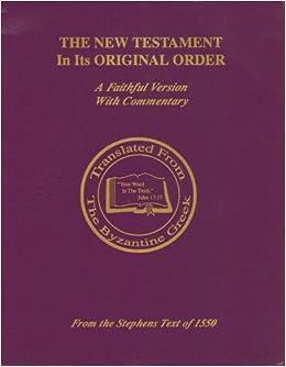 New testament books in order