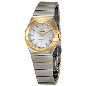 Omega Constellation Mother Of Pearl Dial Gols and Steel Ladies Watch 12320276005001