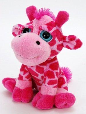"Bright Eye Pink Giraffe 8"" By The Petting Zoo"