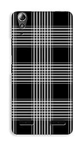 Lenovo A6000 Plus Hard Case Back Cover - Black Colour Printed Designer Cover - LA6000PBLKB173