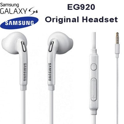 Samsung Eo-Eg920Bw White Headset/Handsfree/Headphone/Earphone With Volume Control For Galaxy Phones (Non Retail Packaging - Bulk Packaging) (Color: White)
