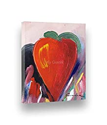 Handpainted Abstract Painting PAINTED HEART 7\