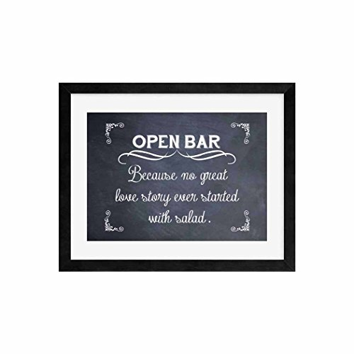 Open Bar Wedding Sign, Funny Wedding Sign, Wedding Decor, Chalkboard Signage, Alcohol Bar Decoration Typography