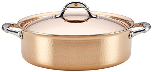 Ruffoni Symphonia Cupra 7-Quart Covered Braiser - Copper