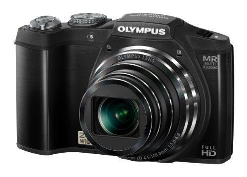 Olympus SZ-31MR Digital Compact Camera - Black (16MP, 24x Wide Optical Zoom) 3.0 inch Touch Panel LCD