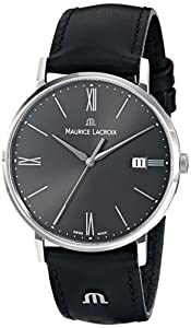 Maurice Lacroix Men's EL1087-SS001-810 Eliros Analog Display Analog Quartz Black Watch