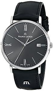 Maurice Lacroix Men's EL1087-SS001-810 Eliros Analog Display Analog Quartz Black Watch
