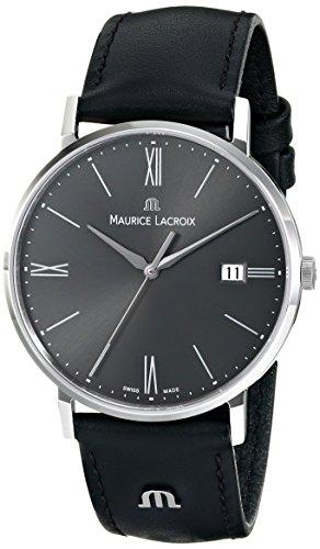 Maurice Lacroix EL1087-SS001-810del hombre Eliros analógico de cuarzo negro reloj