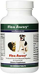 FLEA AWAY The Natural Flea Tick And Mosquito Repellent Dogs and Cats - 100 tabs