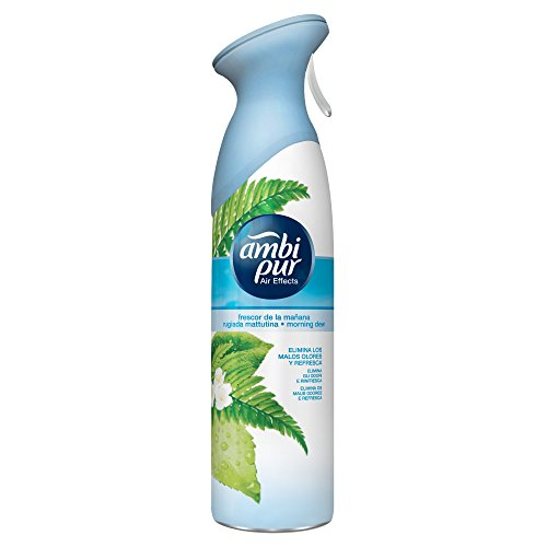 Ambi  Pur Air Effects Deodorante per Ambienti Spray, Rugiada Mattutina, 300 ml