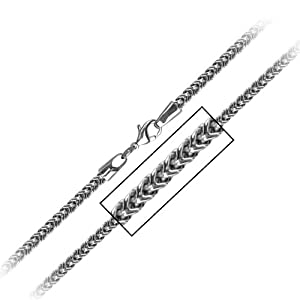 Men's Stainless Steel Franco Chain, 4mm - 36 Inches